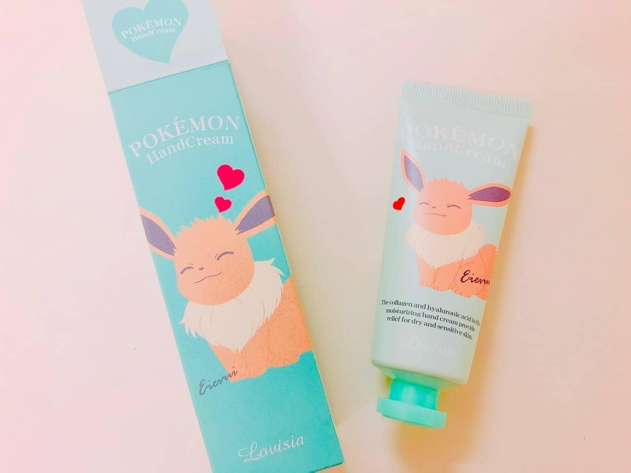 ポケモンハンドクリームが可愛くてしっとりサラサラ!