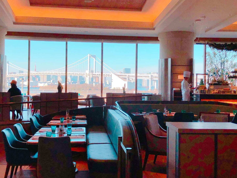 ヒルトン東京お台場ラウンジからの眺め写真