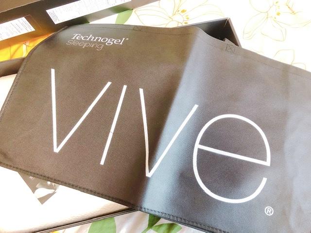 テクノジェル枕「ビーヴェ」に付属する手提げ袋の写真