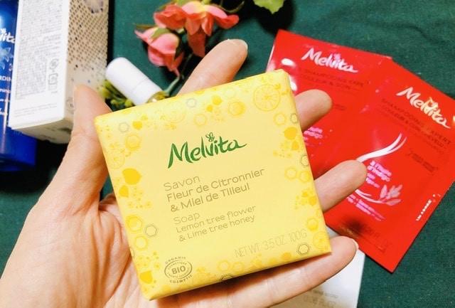 メルヴィータニューイヤーコフレについてきた化粧石鹸の写真