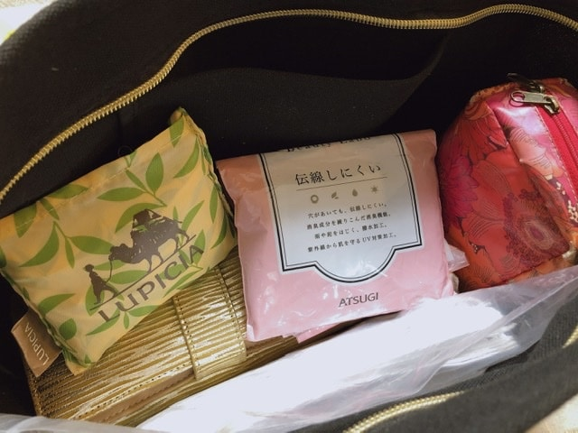 バンヤードストーム2wayバッグに荷物を入れた写真