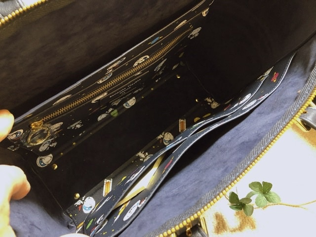 サマンサタバサのバッグの内側写真