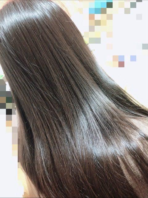 ケアプロ使用後の娘の髪の写真