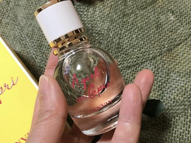 ランバン「ア・ガール・イン・カプリ」瓶の写真