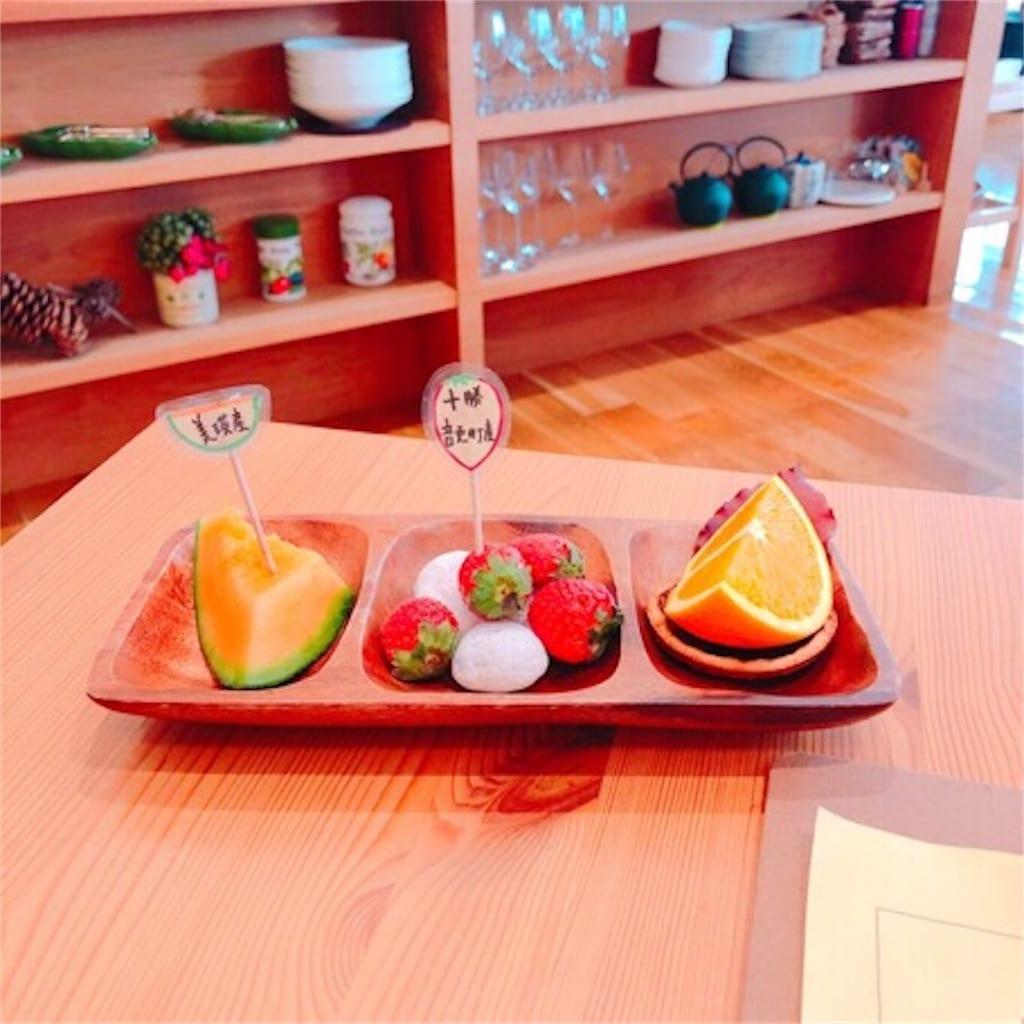 モリエールカフェのフレッシュジュース写真